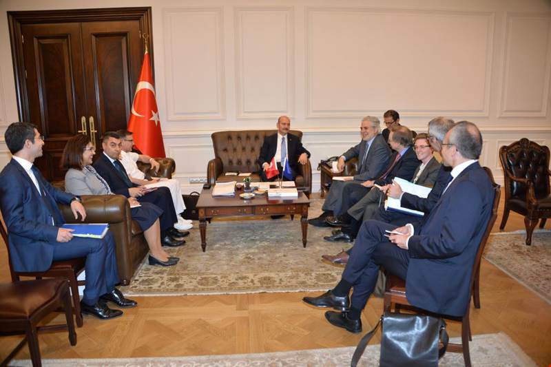 Minister of Interior Soylu Received the EU Commissioner for Humanitarian Aid and Crisis Management