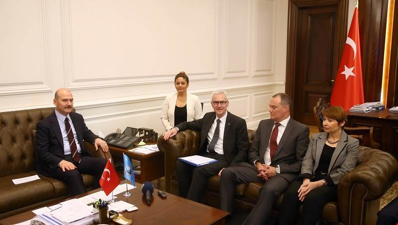 Minister of Interior Soylu Received the Secretary General of Interpol