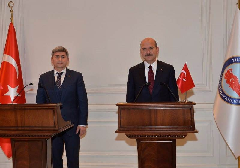 Minister of Interior Soylu Met Moldovan Minister of Internal Affairs Jizdan