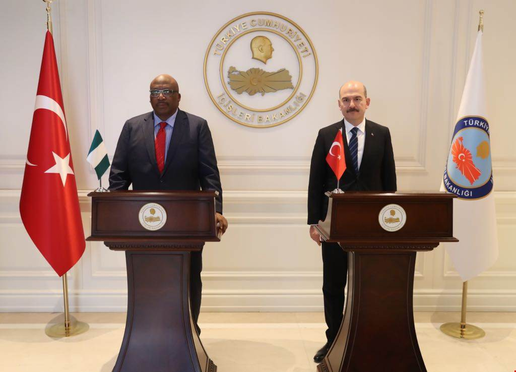 Minister of Interior Süleyman SOYLU met with the Nigerian Minister of Interior