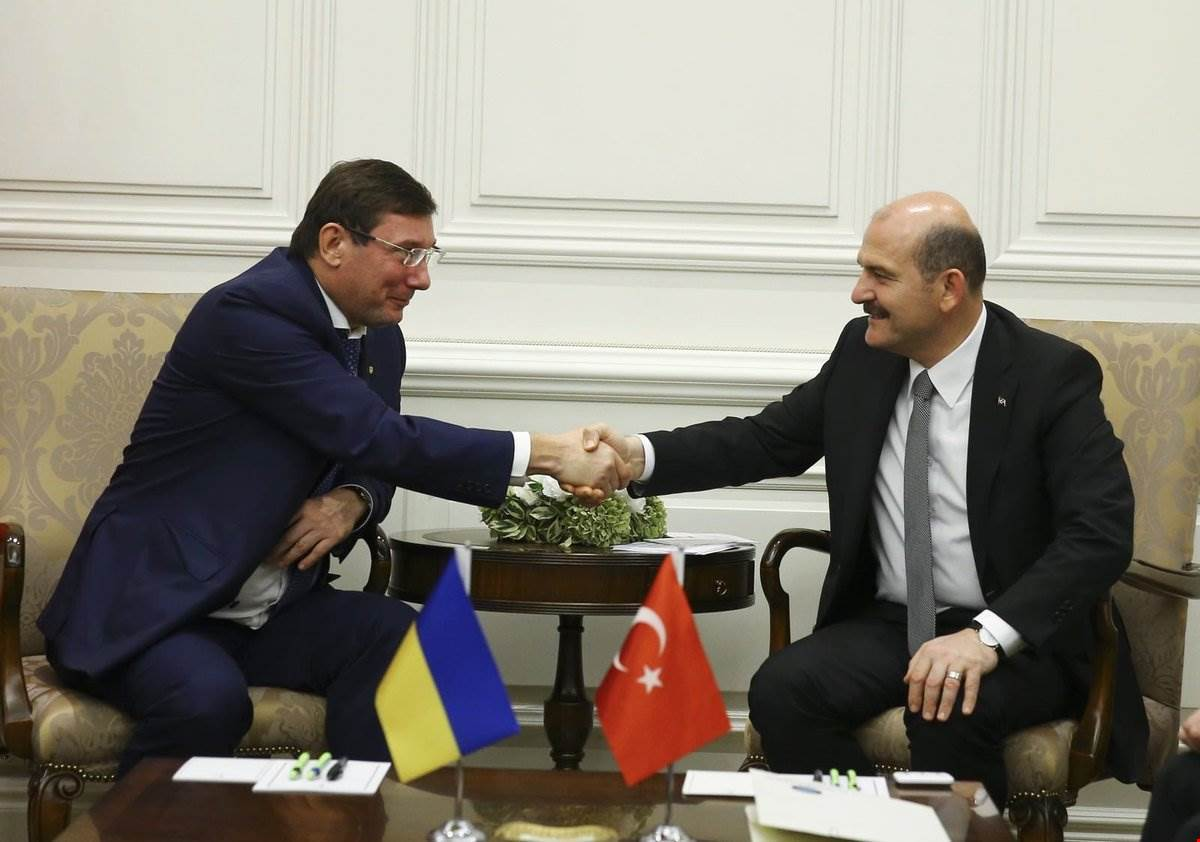 Minister of Interior Süleyman Soylu Met with the Ukraine's Prosecutor General Yuriy Lutsenko