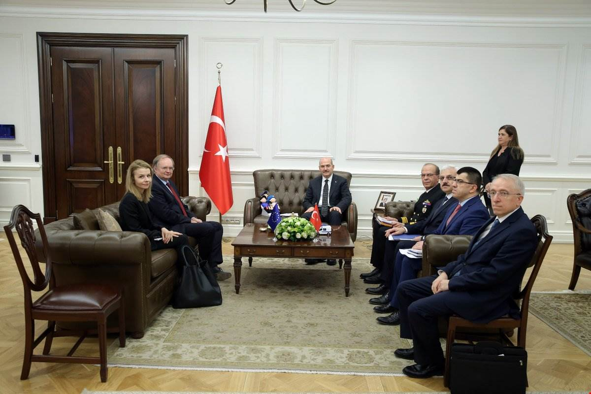 Minister Soylu received Ambassador Mr. Berger, Head of EU Delegation to Turkey