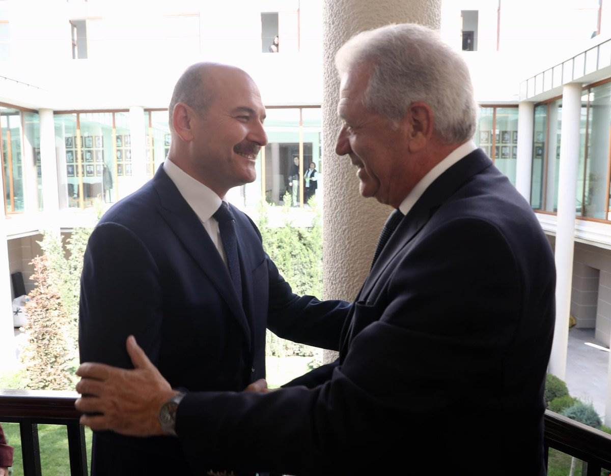 Minister Soylu Received The European Commissioner Mr. Avramopulos