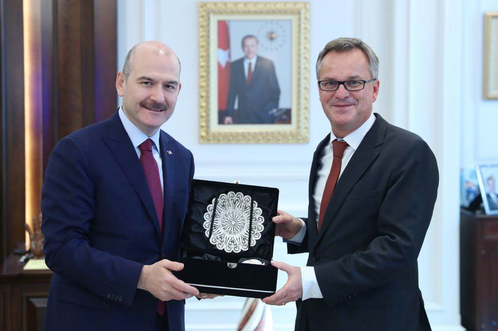 Minister Soylu received the Undersecretary of Ministry of the Interior, Building and Community of Germany Mr. Hans Georg Engelke