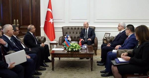 Minister Soylu received Mr. Azay Guliyev