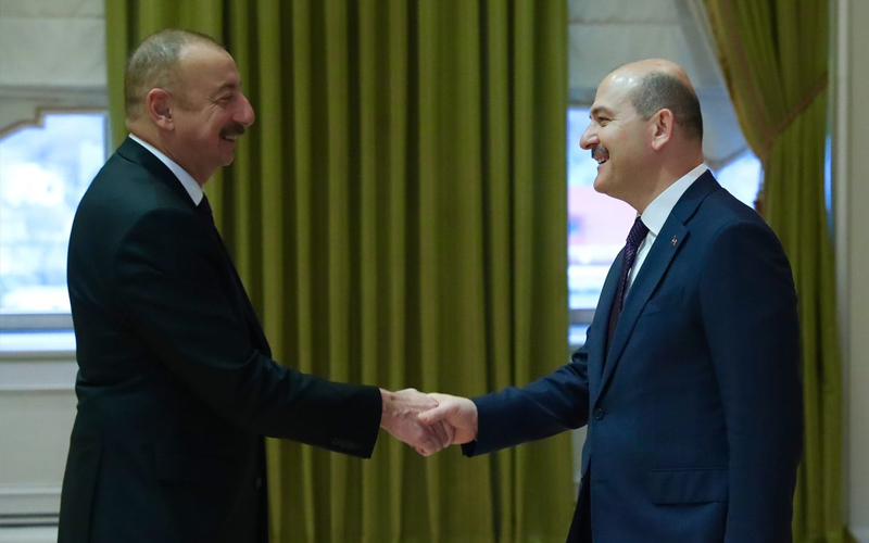 AZERBAIJAN PRESIDENT İLHAM ALİYEV RECIVED OUR MINISTER OF INTERIOR MR. SÜLEYMAN SOYLU