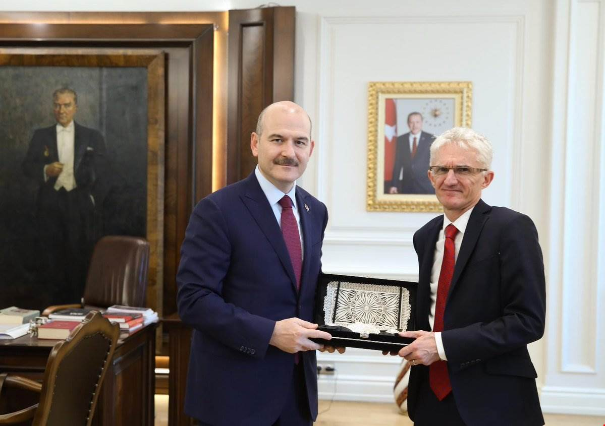 Minister Soylu received UN Under-Secretary-General Mr. Lowcock.