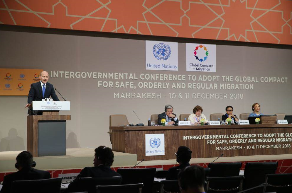 "Our Minister of Interior Mr. Süleyman Soylu Participated in ""The Intergovernmental Conference on UN Global Compact for Migration"""