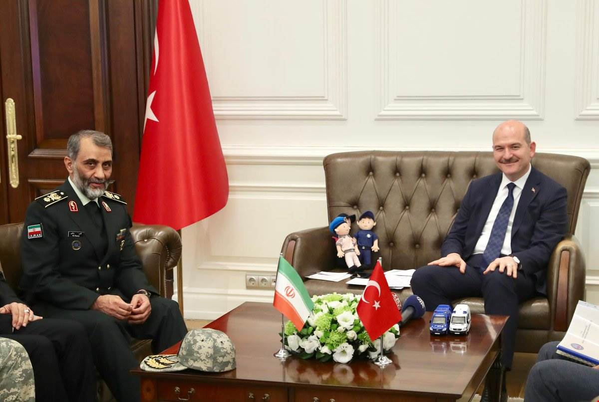Minister Soylu received Border Guard Commander of the Islamic Republic of Iran Brigadier General Mr. Ghassem Rezaei.