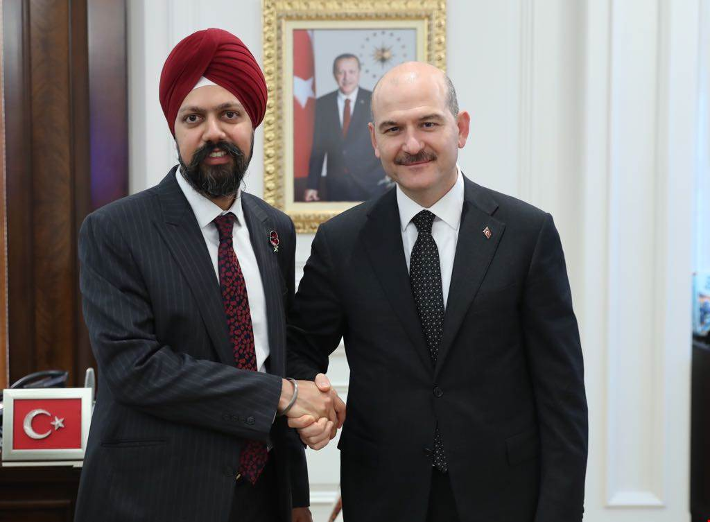 Minister Soylu received English Members of Parliament
