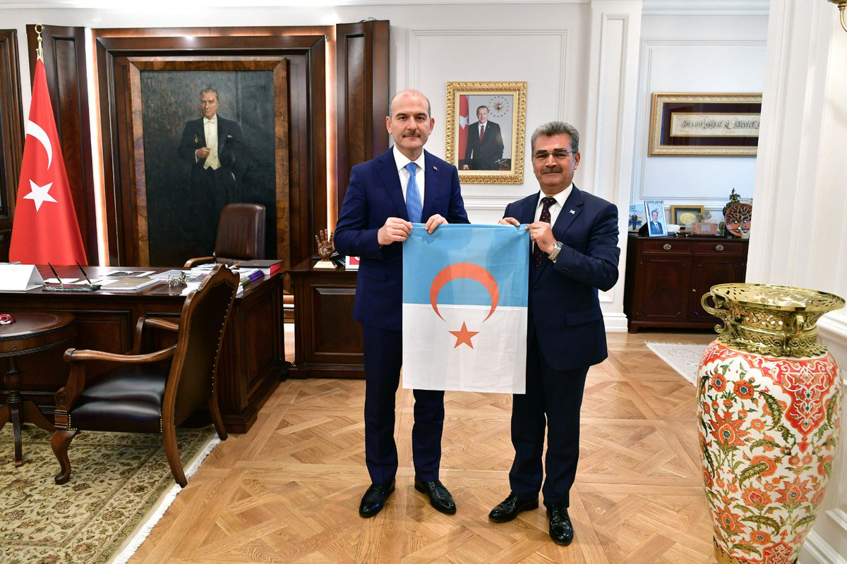 Our Minister Mr. Süleyman SOYLU hosted Mr. Muhammed Vecih Cuma,the President of the Syrian Turkmen Assembly in His Office