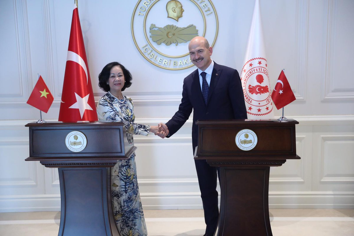 Our Minister Mr. Süleyman SOYLU received Mr. Truong Thi Mai and his accompanying Delegation