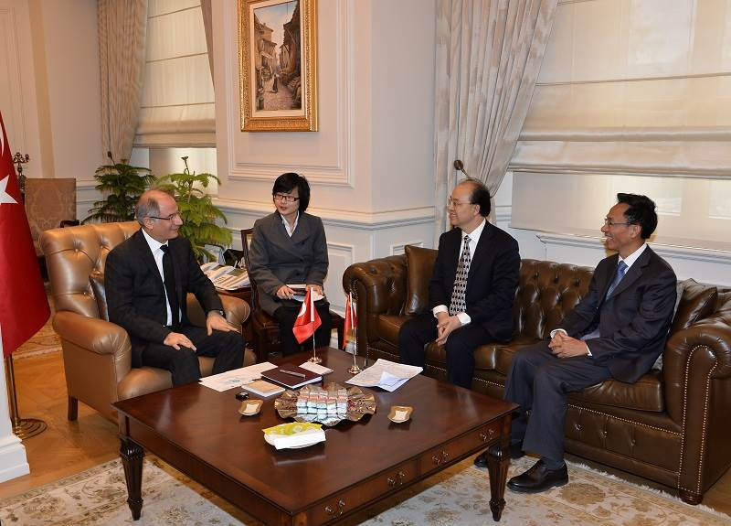 Minister of Interior Efkan ALA Received Mr Li Huila, Chinese Assistant Minister of Foreign Affairs