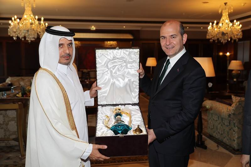 Minister of Interior Soylu Met Qatari PM and Minister of Interior Abdullah Bin Nasser