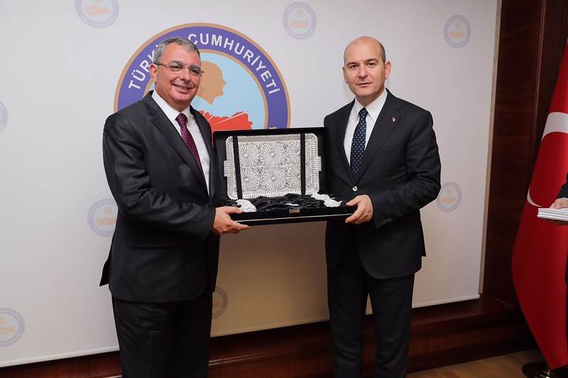 Minister Of Interior Soylu Met with TRNC Minister of Interior