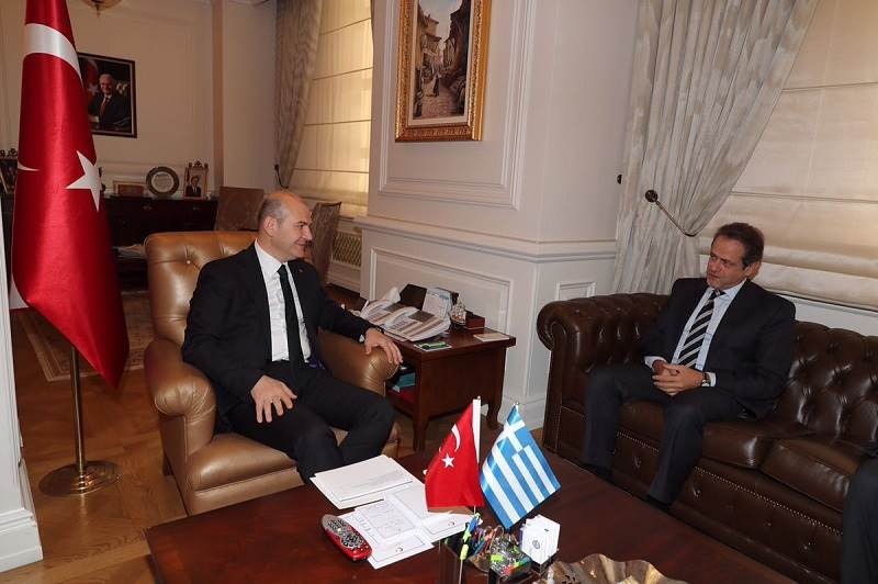 Minister of Interior  Soylu Received the Ambassador of Greece to Ankara